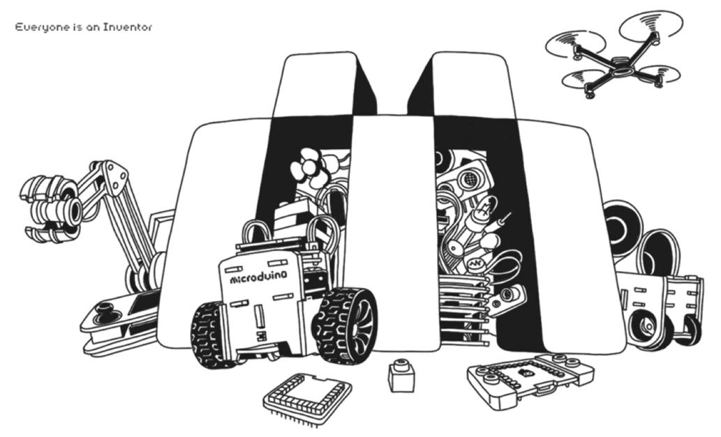 Microduino DIY illustration